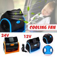 12V/24V Car Vehicle Truck Cooling Cooler Air Fan Silent 2 Speed Portable  Q