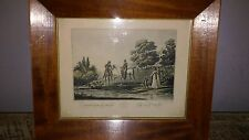 "Vintage La Promenade Du Matin 9 1/4"" by 8""  framed wall picture"