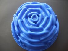 "Silicone Mould Large 9"" Rose Pan Flower Cake Tin Baking Form"