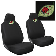 Car Seat Covers Beetle Ladybug 2pc Bucket for Auto w/Integrated Head Rest