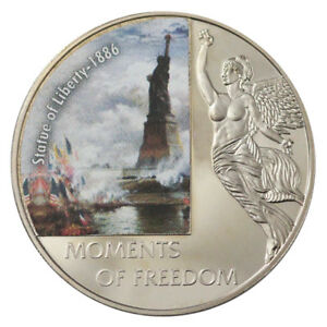 LIBERIA 10 DOLLARS MOMENTS OF FREEDOM - STATUE OF LIBERTY 2006