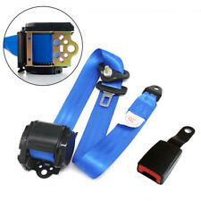 3 Point Safety Adjustable Retractable Seat Belts Quick Release Sapphire Blue