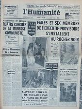 """L'Humanité - (30 mars 1962) Fresnes : """"affaire d'or"""" - Fares au Rocher Noir -"""