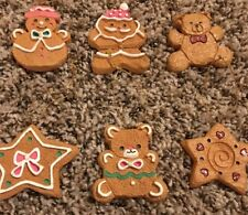 6 Piece Ceramic Gingerbread Christmas Ornaments