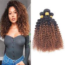 Brazilian Ombre 1B/30 Kinky Curly 1~5Bundles Human Remy Hair Extension Virgin