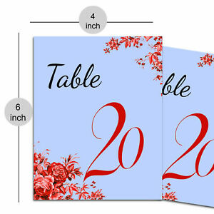 Decorative Paper Table Number Weddings, Placecard Matte Sheet Party Table Décor