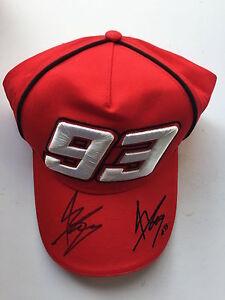 Marc Marquez Hand Signed Cap Repsol Honda MotoGP World Champion.
