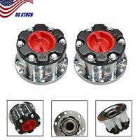 2x Manual Wheel Locking Hubs Set For Toyota 4Runner T100 Hilux Pickup