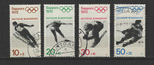 Bundespost ALLEMAGNE 1971 Jeux Olympiques de Sapporo 4 timbres oblitérés /T3342