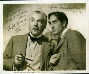 NIGEL BRUCE & BASIL RATHBONE Signed Photograph - Film Actors - preprint