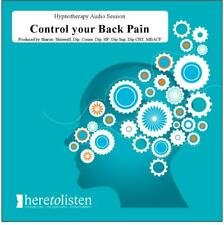 Manage Back Pain Self Hypnosis CD. Drug Free Relief from Backache @HALF PRICE