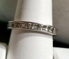 QVC Epiphany princess Diamonique CZ DQCZ Sterling silver Eternity band ring 9