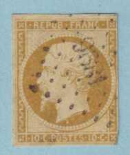 FRANCE - SCOTT 10 - 1852 10c BISTER PRESIDENT NAPOLEON - USED