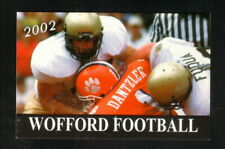 Wofford Terriers--2002 Football Pocket Schedule