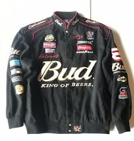 J.H. Design Dale Earnhardt JR #8 Size 2XL Black Budweiser Jacket 2007 Nascar