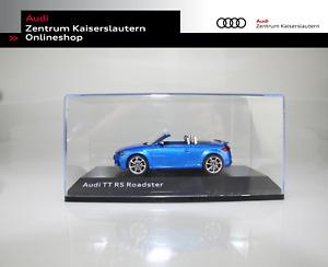 Audi Orginal Miniatur TT RS Roadster Aralblau Maßstab 1:43 Model 5011610532