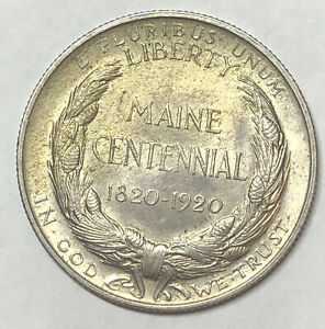 1920 Maine Half Dollar Silver
