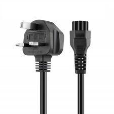 C5 Mains Cable Lead / UK Type Plug for Laptop  power supplies, 3M
