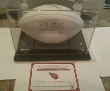 DOMINIQUE RODGERS-CROMARTIE Cardinals Autographed signed Football COA Disply box