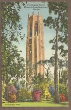 VINTAGE POSTCARD LINEN UNUSED THE SINGING TOWER MOUNTAIN LAKE SANCTUARY, FLORIDA
