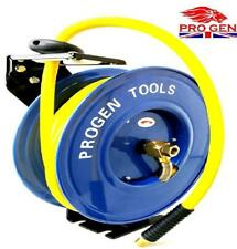 "New Retractable 15M 3/8"" Inch 50 FT Air Hose Line Garage Workshop Tool Hose Reel"