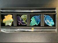 SET OF 4 Japanese Ceramic/Porcelain CEBU Chopsticks & Rests NEW - Leaves 🍁