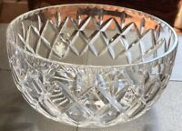 Vintage Royal Doulton Crystal Centerpiece Bowl Rare