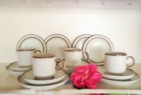 RETRO COFFEE SET 4x TRIOS + 4x PLATES 16PC THOMAS GERMANY UNUSED VGC COFFEE SET