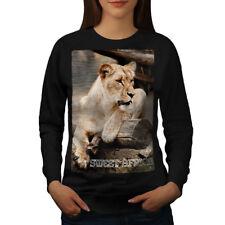 Wellcoda Africa Lion Safari Animal Womens Sweatshirt, The Casual Pullover Jumper