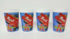 Vintage 1996 Lot Of 4 Budweiser Ken Schrader Plastic Cups