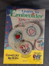 Learn to Embroider Creativity for Kids brand new sealed