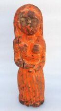 Antique Old Hand Carved Wooden Indian Primitive Tribal Lady Figure Folk Art