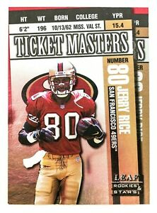 Jerry Rice / Steve Young #8 (1998 Leaf Rookies & Stars) Football Ticket Masters