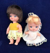 2 Vintage Small Baby Dolls Made In Hong Kong