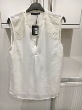 ATMOSPHERE IVORY SLEEVELESS BLOUSE/TOP SIZE 16 WITH SEQUIN & BEAD EFFECT BNWT