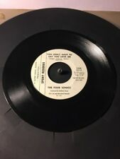 The Four Sonics It Takes Two & You Dont Have To Say You Love Me, Promo 45 Nice!