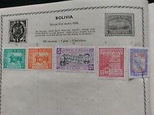 5 BOLIVIA STAMPS 1943/1945