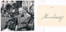 """Czechoslovakia President Edvard Beneš 1884-1948 autograph signed 3.5""""x5"""" card"""
