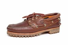 Timberland Men's Three Eye Oxford Classic Leather Boat Shoes Brown 2192 Sz 7.5 M