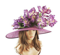 Purple Iris Ascot Formal Hat for Weddings, Ascot, Derby HC5