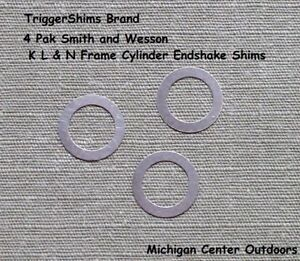 Cylinder Endshake Shim Bearings 4 PAK fits Smith and Wesson K L & N Frame USA