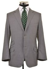 RECENT Canali Brown Label Mid Gray Pinstripe HACKING 2pc Suit Jacket Pants 42 R