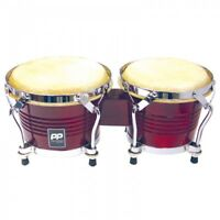 PP WORLD PP5003 - PAIR OF TUNEABLE BONGOS -  LACQUER FINISH + CHROME HARDWARE