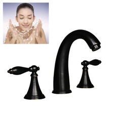 """8"""" Oil Rubbed Bronze Widespread Bathroom Basin Faucet Sink Waterfall Mixer Tap"""