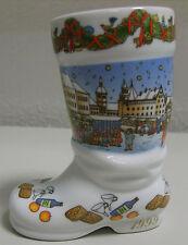 **Weihnachtssiefel Porzellan Bierstiefel 1999 Motive 7  lim. Edition Nürnberg