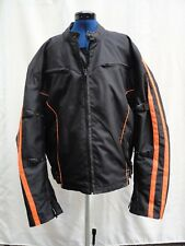 Xelement Men's Armored Black/Orange Textile Motorcycle Jacket ZO Lining 4XL
