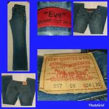 "Fabulous Ladies genuine ""Eve"" Levi's Jeans square Cut Straight Leg 557 W26 L30"