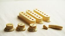 Aged Vintage Pickup Cover Knobs Switch Set for Strat Stratocaster Relic Fcustom