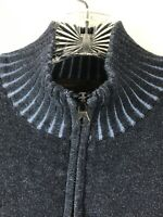 Pronto Uomo Blue Men's Size XL Navy 1/4 Zip Long Sleeve Mock Neck Sweater