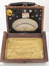 Antique Vintage Roller-Smith Meter, Wood Case, Radioplane Marilyn Monroe